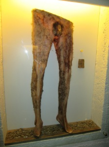 Don't worry, these are replica necropants, not really the skin of an actual human volunteer.