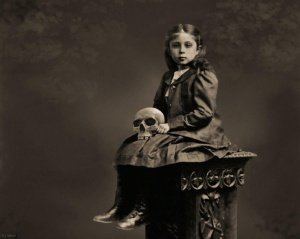 At age six Carrie Fudgewallow exhumed  her father's skull, and would be within 3 feet of it for the rest of her life. At 89 she ground the skull into powder, drank it in tea, and died.
