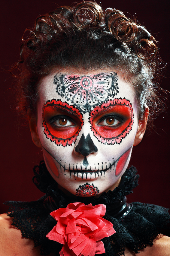 5 curious facts about sugar skulls and the day of the dead parayournormal - Maquillage dia de los muertos ...