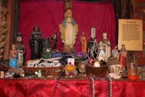 A voodoo altar in the Voodoo Museum